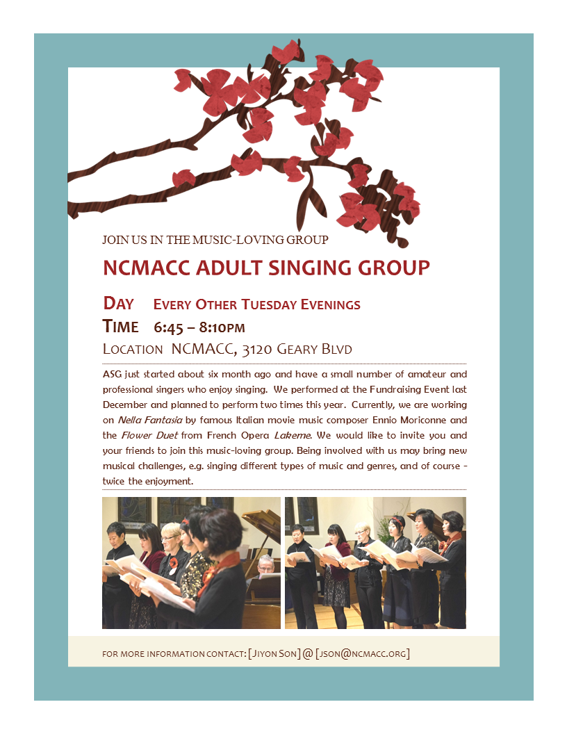 NCMACC Adult Singing Group